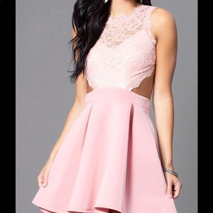 Promgirl Short lace light pink homecoming dress